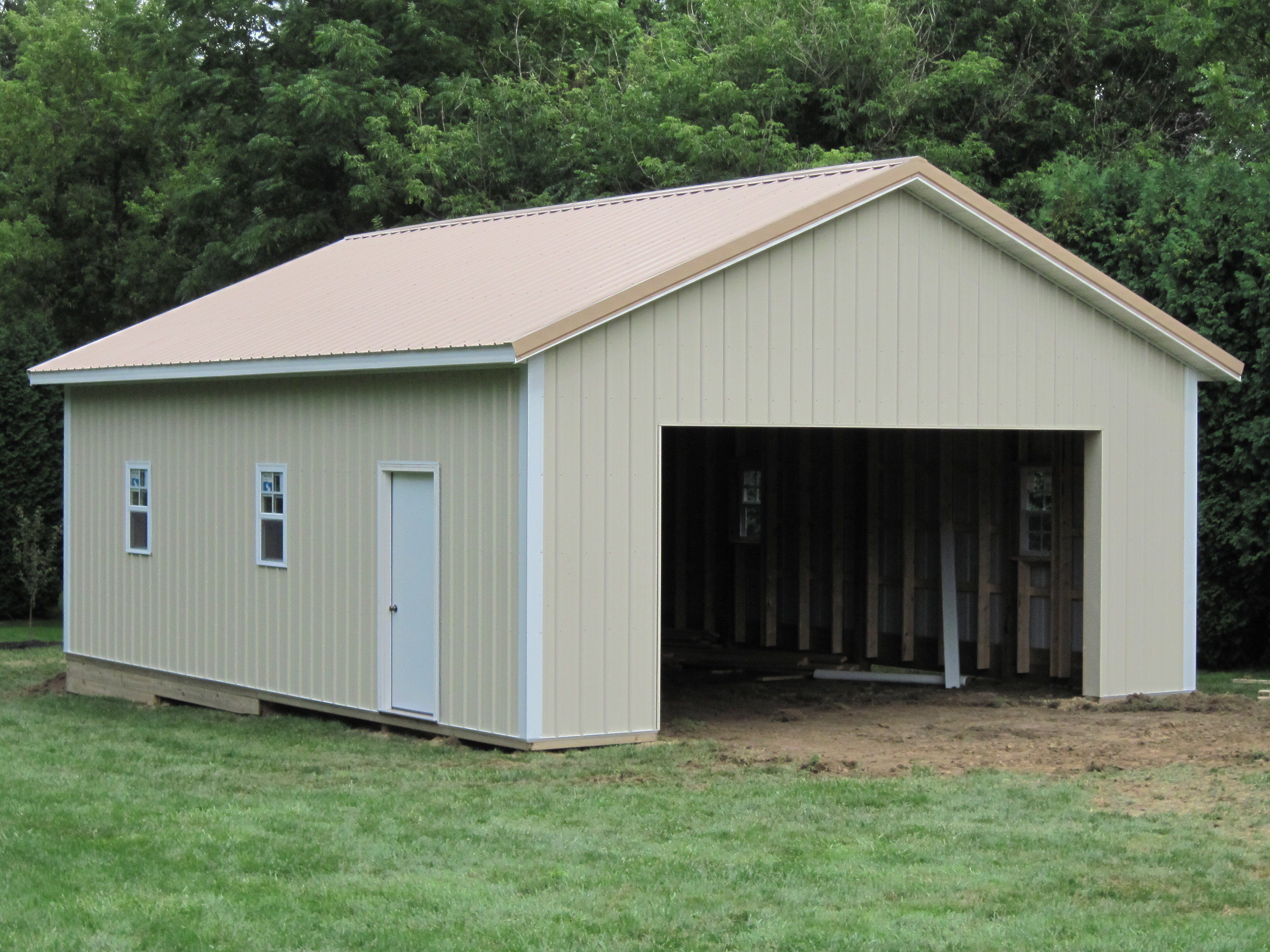 24 x 32 pole barn plans for Garage barn plans